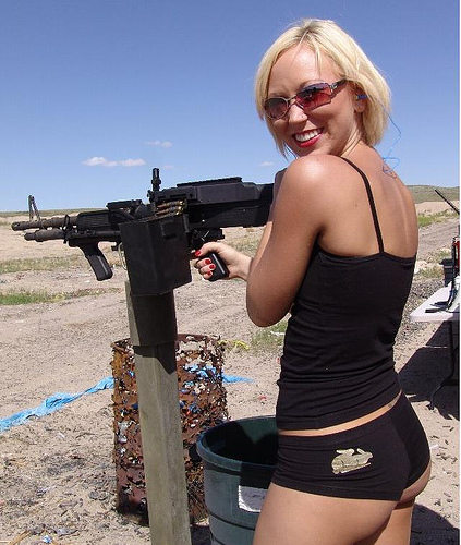 Hot Girl with Machine Gun