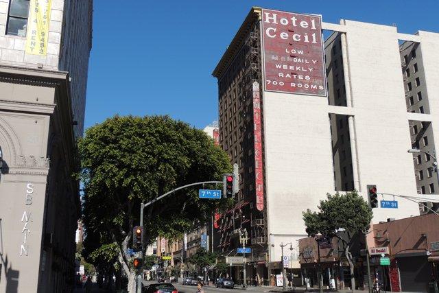 Hotel Cecil at 7th and Main (Credit: Washington Times)
