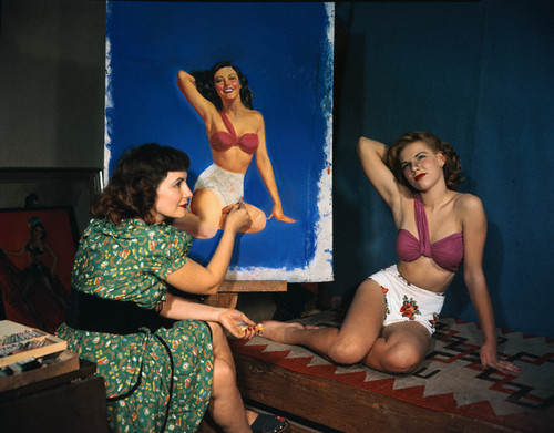 Pinup Artist Zoe Mozert Painting Fashion Model
